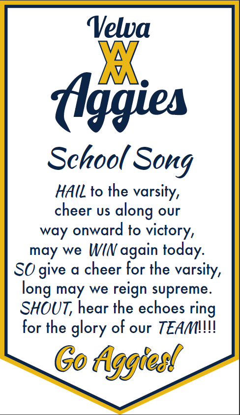 Aggies School Song Banner