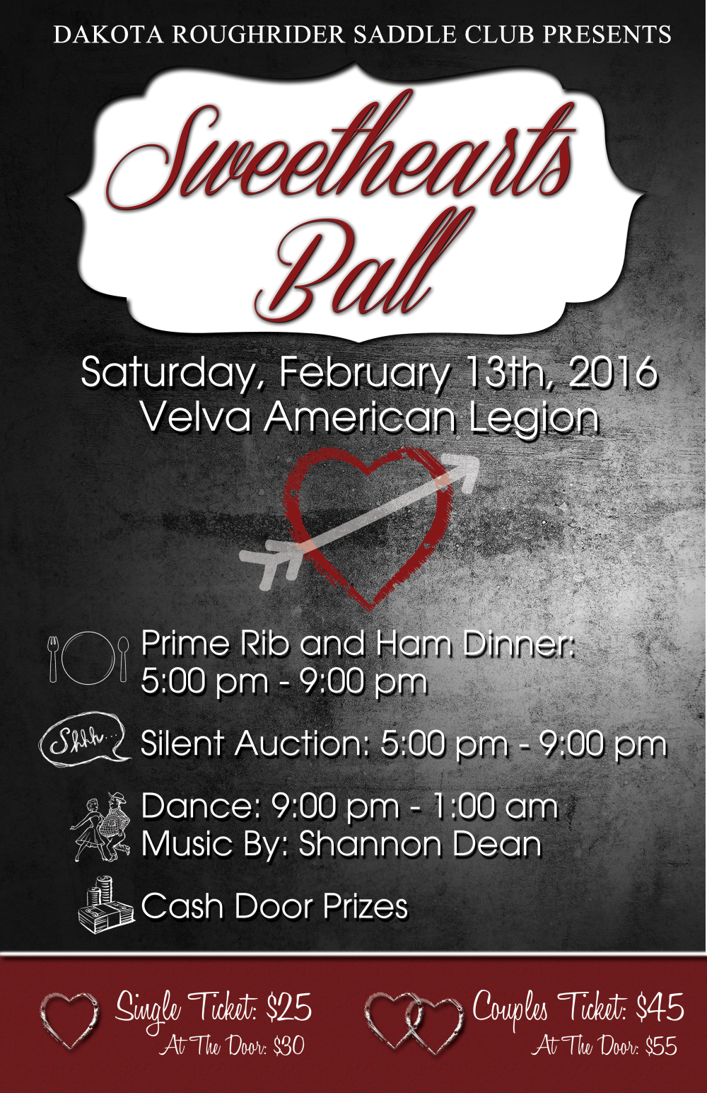 Dakota Roughriders Sweetheart Ball Poster
