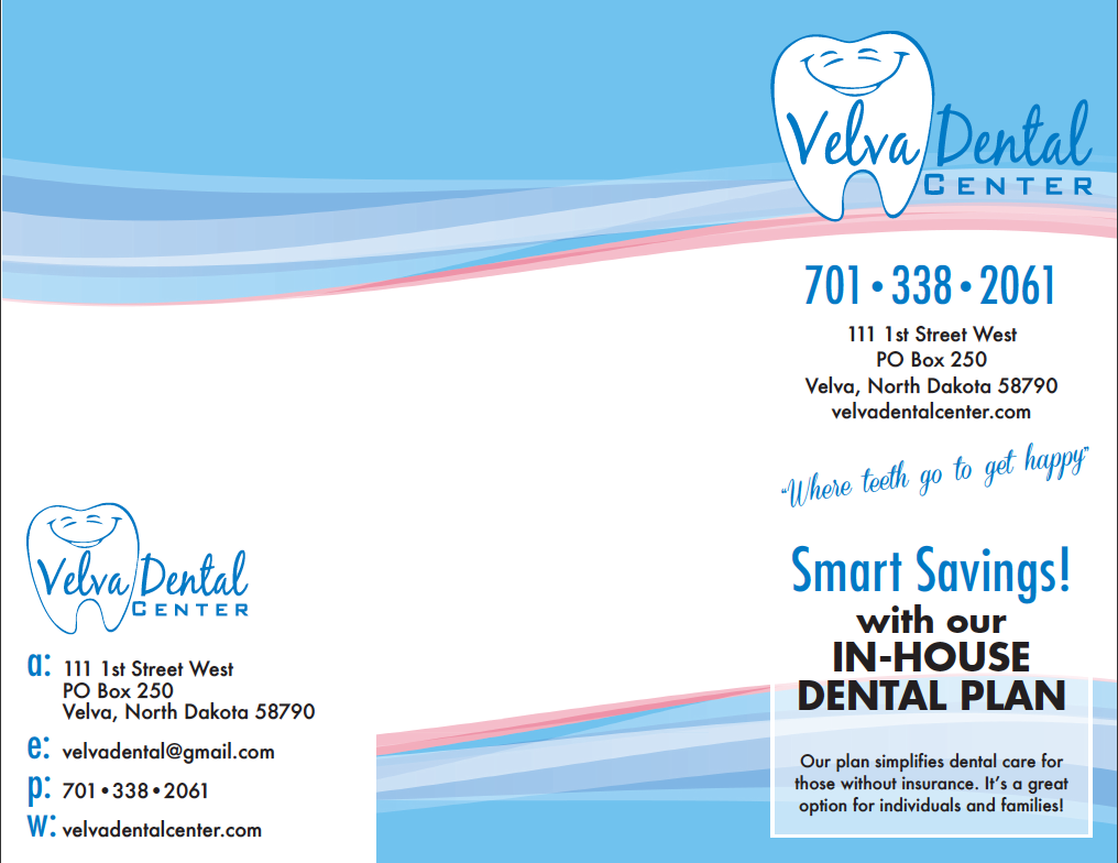 Velva Dental Center Brochure Side 1