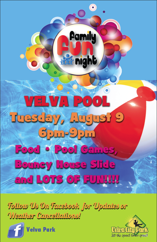 Velva Park Family Fun Night Poster